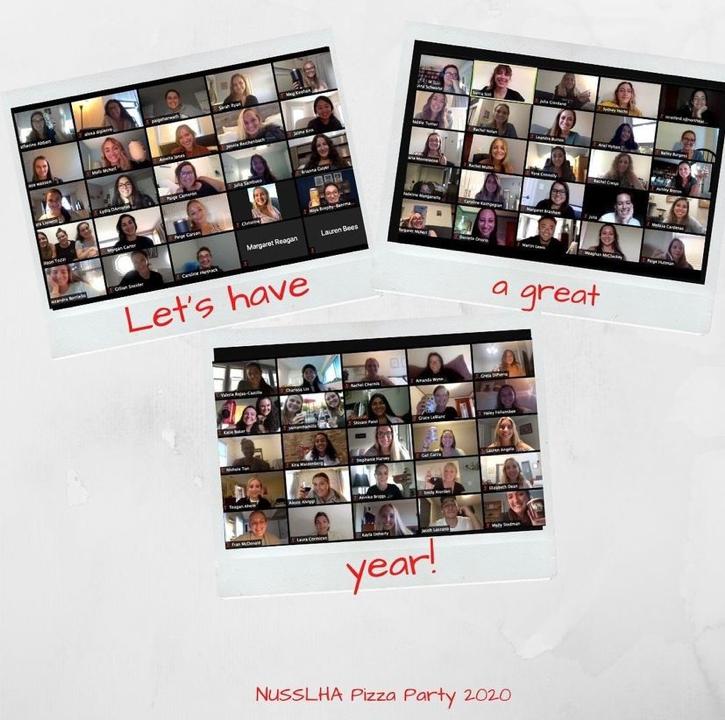 MS SLP students virtual pizza night